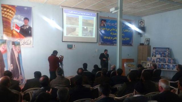 اولین جلسه آموزشی دهیاران و اعضای شورای  اسلامی بخش جرقویه علیا برگزار شد